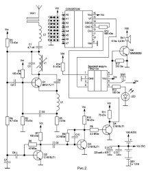 Схема беспроводного дверного звонка на батарейках